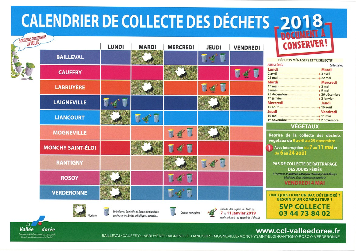 calendrier collectes